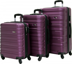Cambridge Polo Club Plbvl30007, Abs 3-Piece Suitcase, Purple-0