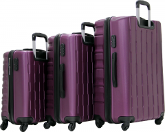 Cambridge Polo Club Plbvl30007, Abs 3-Piece Suitcase, Purple-1