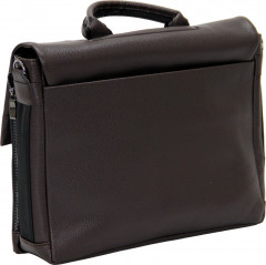 Cambridge Polo Club, Locked Synthetic Leather Briefcase, Coffee-1