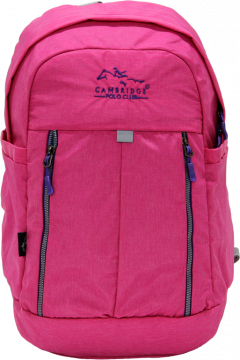 Cambridge Polo Club Plcan1669, Soft Backpack, Pink-1