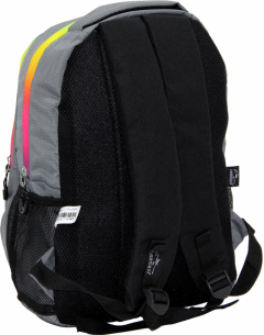 Cambridge Polo Club, Colorful Zipper School Backpack, Gray-2