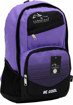 Cambridge Polo Club, Be Cool School Backpack, Purple-0
