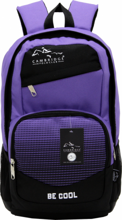 Cambridge Polo Club, Be Cool School Backpack, Purple-3