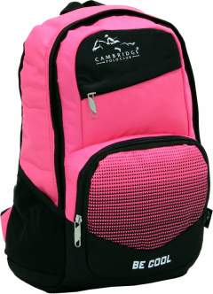 Cambridge Polo Club, Be Cool School Backpack, Pink-0