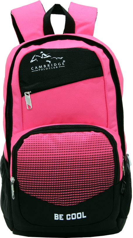 Cambridge Polo Club, Be Cool School Backpack, Pink
