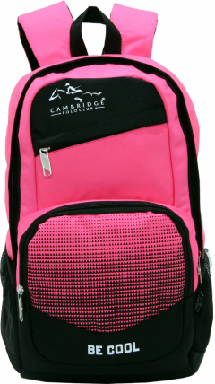 Cambridge Polo Club, Be Cool School Backpack, Pink-3