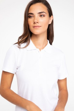 Polo Tshirt Women White-0