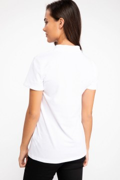Polo Tshirt Women White-2