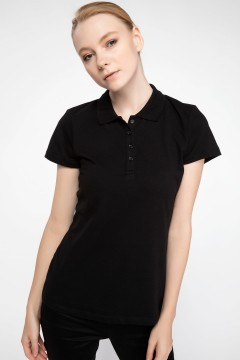 Polo Tshirt Women Black-0