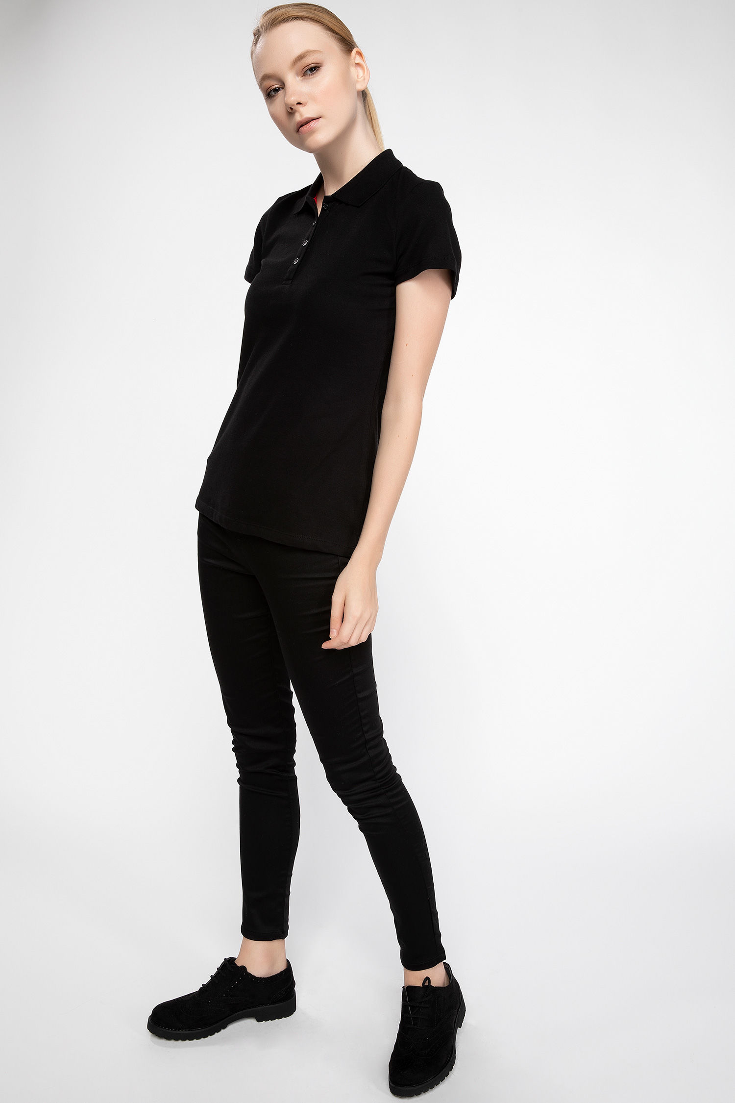 Polo Tshirt Women Black