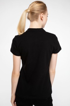 Polo Tshirt Women Black-2