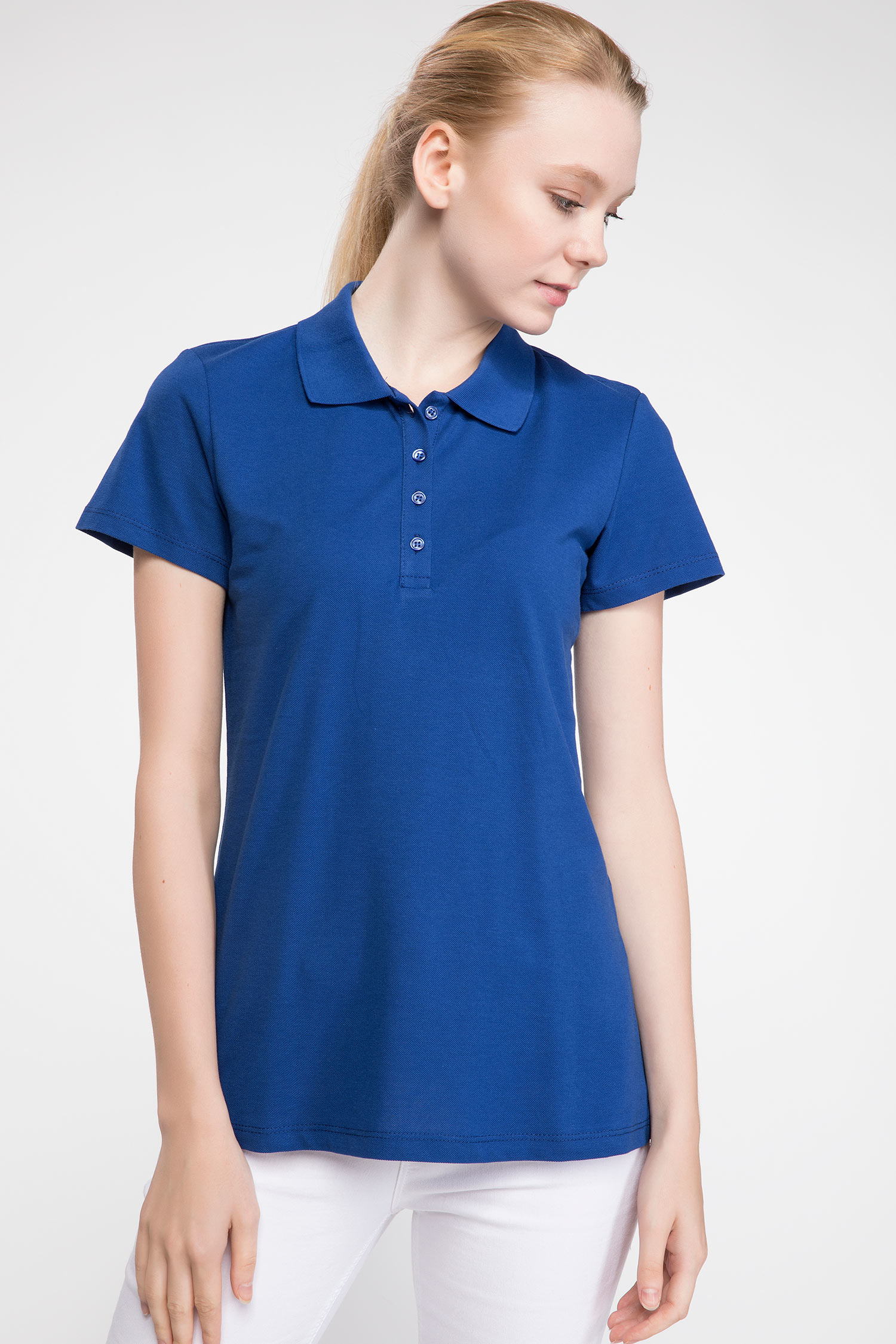 Polo Tshirt Women Blue