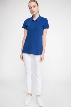 Polo Tshirt Women Blue-1