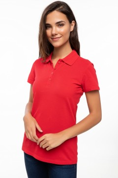 Polo Tshirt Women Red-0