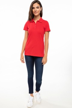 Polo Tshirt Women Red-1