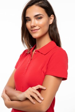 Polo Tshirt Women Red-2