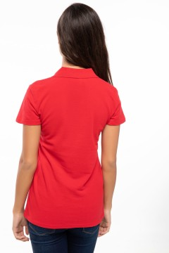 Polo Tshirt Women Red-3
