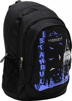 Cambridge Polo Club, Istanbul Backpack, Black-1