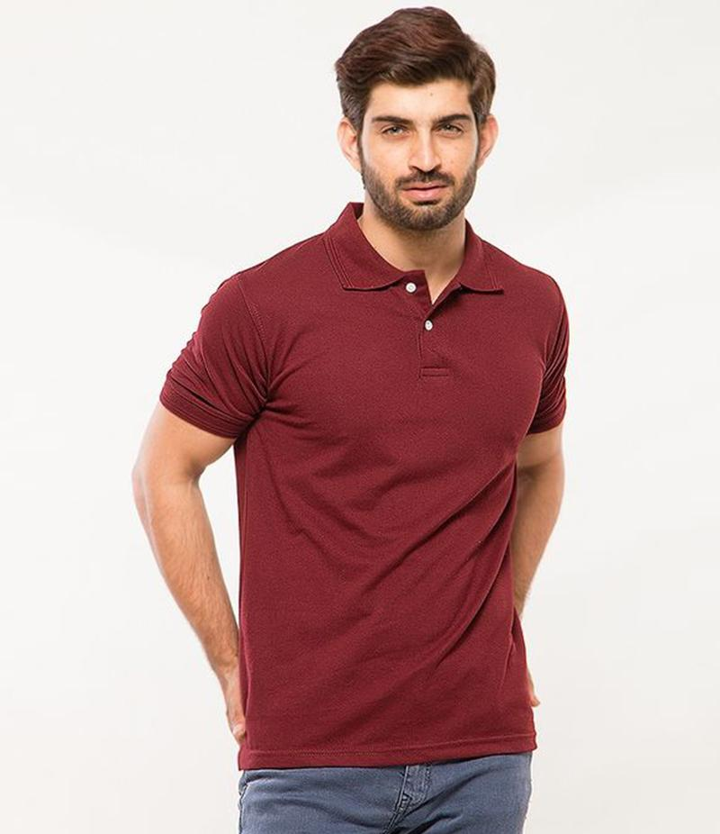 Polo Tshirt Men Claret Red