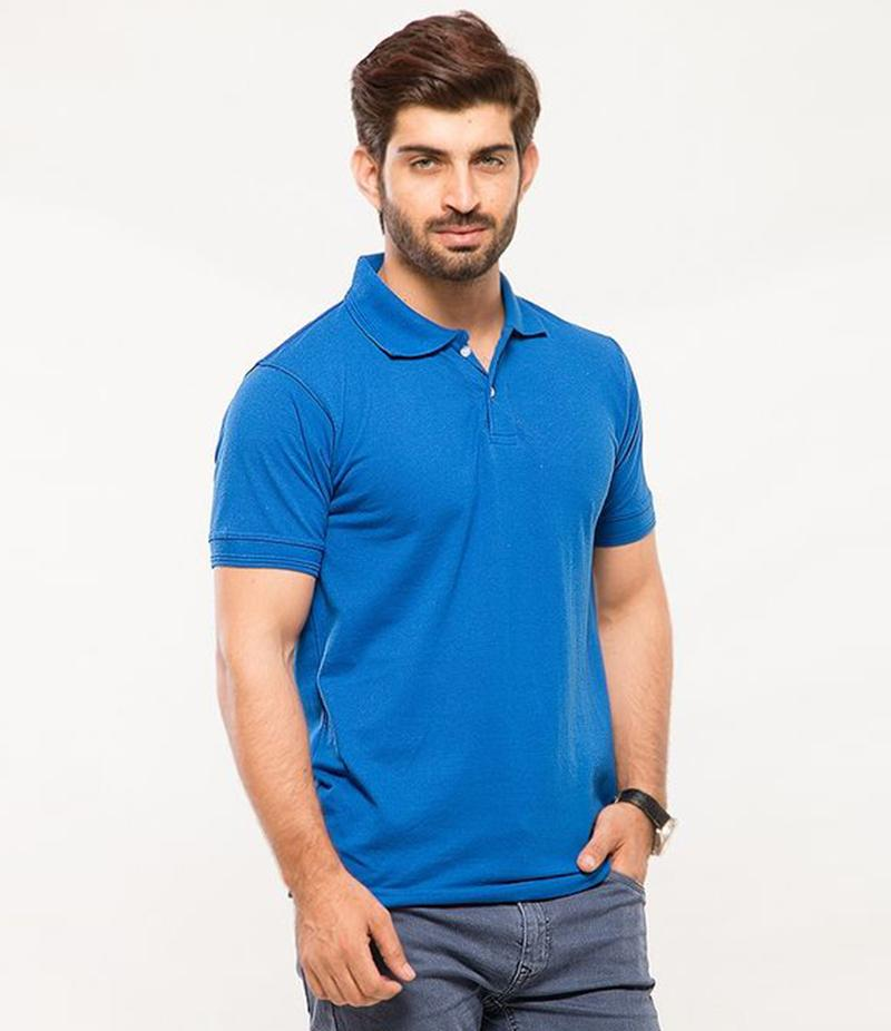 Polo Tshirt Men Blue
