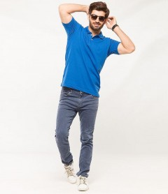 Polo Tshirt Men Blue-3
