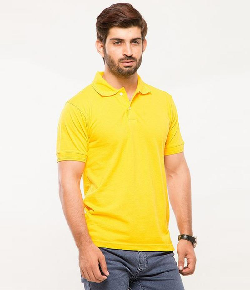 Polo Tshirt Men Yellow