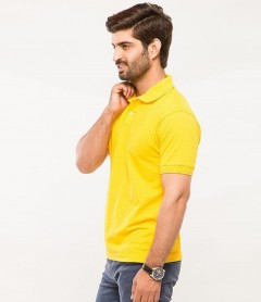 Polo Tshirt Men Yellow-1