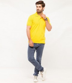 Polo Tshirt Men Yellow-3