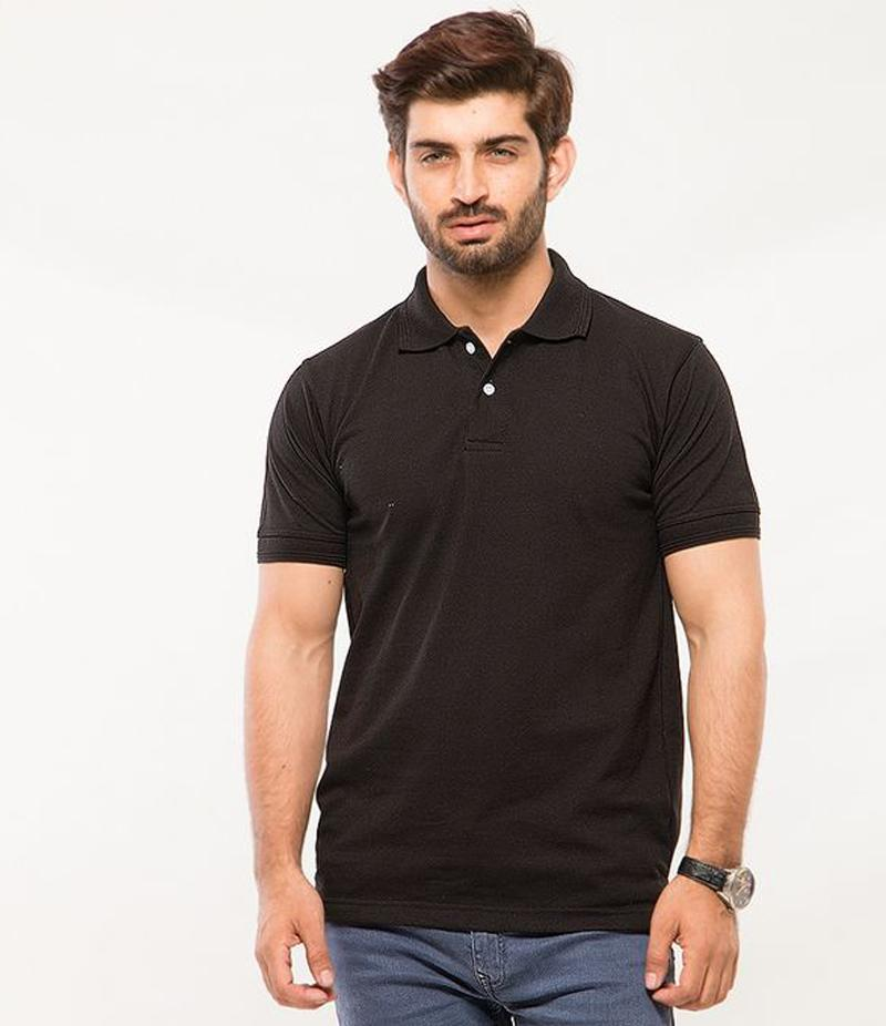 Polo Tshirt Men Black