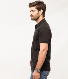 Polo Tshirt Men Black-1
