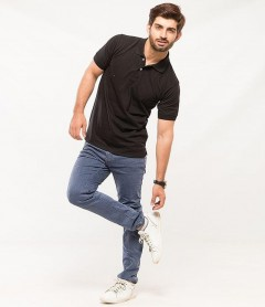 Polo Tshirt Men Black-2