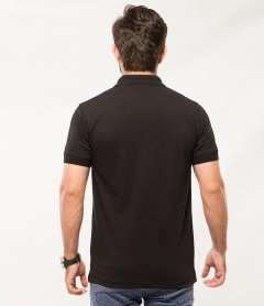 Polo Tshirt Men Black-3