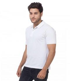 Polo Tshirt Men White-1