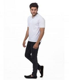Polo Tshirt Men White-3