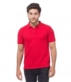 Polo Tshirt Men Red