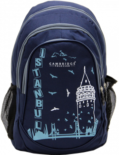 Cambridge Polo Club, Istanbul Backpack, Navy Blue-0