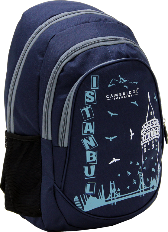 Cambridge Polo Club, Istanbul Backpack, Navy Blue