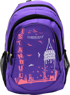 Cambridge Polo Club, Istanbul Backpack, Purple-0