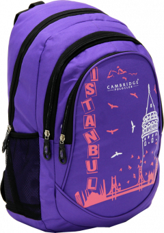 Cambridge Polo Club, Istanbul Backpack, Purple-1