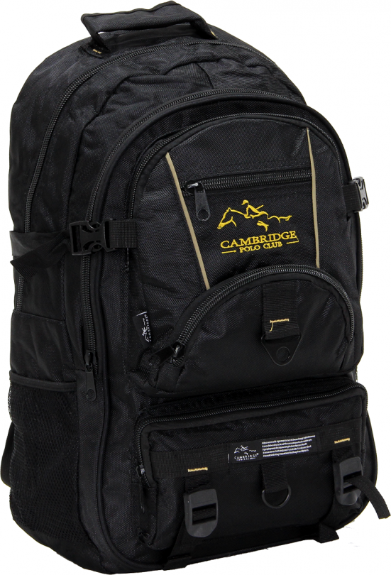 Cambridge Polo Club Pldgc90004, Mountaineer Backpack, Black