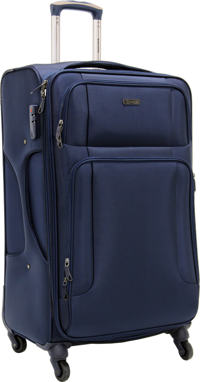 Bagtone Bt1720, Lux Fabric Large Size Travel Suitcase, Navy Blue
