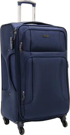 Bagtone Bt1720, Lux Fabric Large Size Travel Suitcase, Navy Blue-1