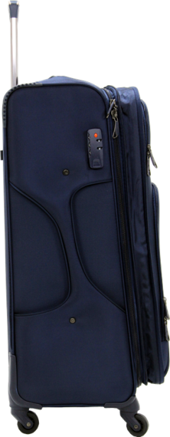 Bagtone Bt1720, Lux Fabric Large Size Travel Suitcase, Navy Blue-3