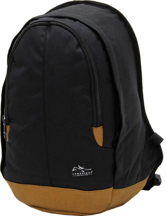Cambridge Polo Club, Nubuck Base Backpack, Black