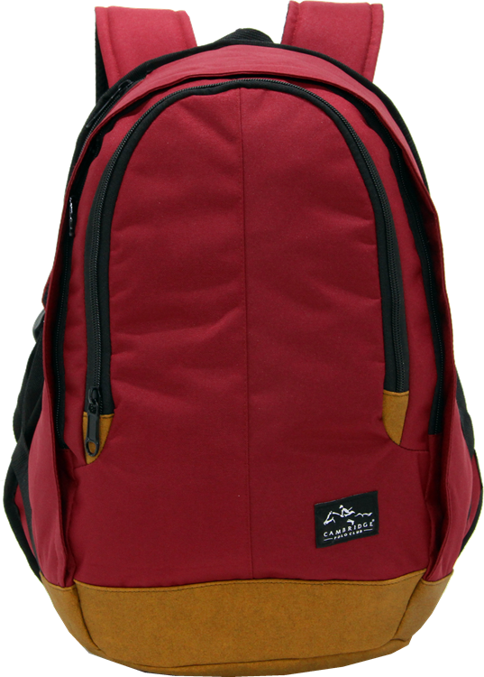 Cambridge Polo Club, Nubuck Base Backpack, Bordeaux
