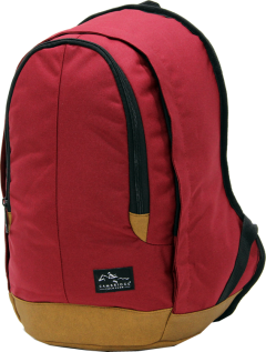 Cambridge Polo Club, Nubuck Base Backpack, Bordeaux-1