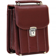 Cambridge Polo Club, Locked Portfolio Handbag Small Size, Bordeaux