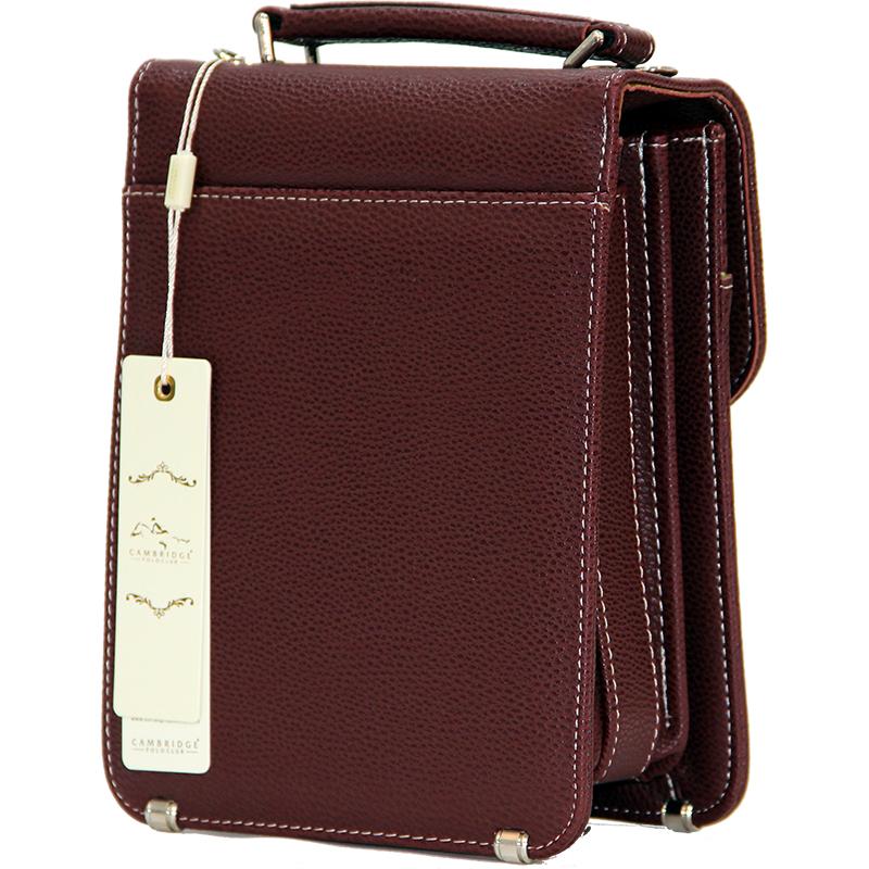 Cambridge Polo Club, Locked Portfolio Handbag Small Size, Bordeaux