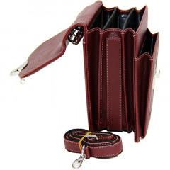 Cambridge Polo Club, Locked Portfolio Handbag Small Size, Bordeaux-2