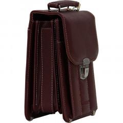 Cambridge Polo Club, Locked Portfolio Handbag Small Size, Bordeaux-3